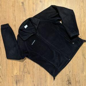 Columbia black fleece jacket sz Medium